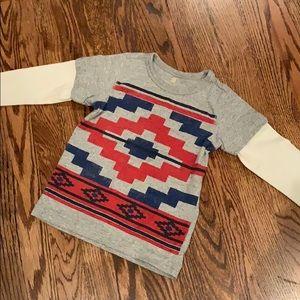Tea Collection layered shirt size 4/5